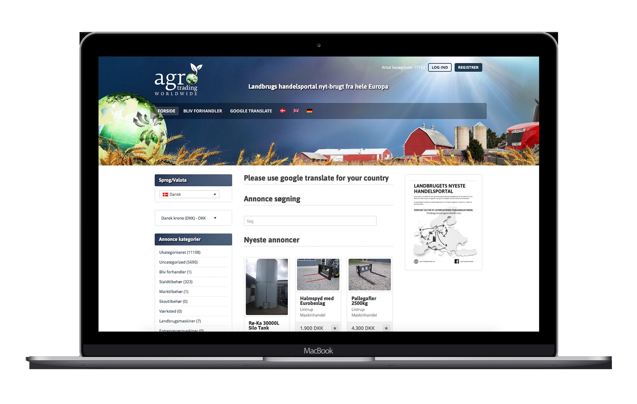 Agro Trading har valgt Skysolutions professionelle webhotel for bedre sikkerhed og hastighed.