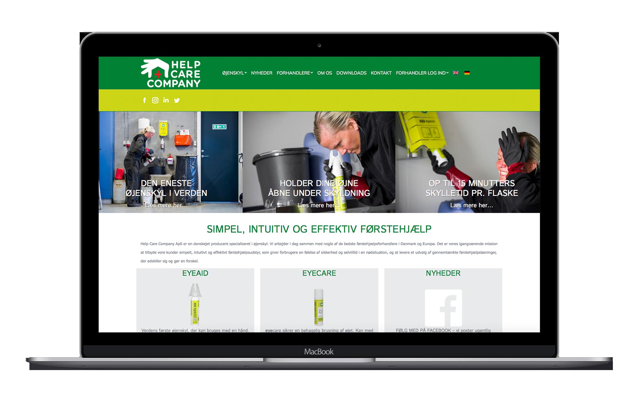 Læs om Helpcare og deres professionelle webshop løsning