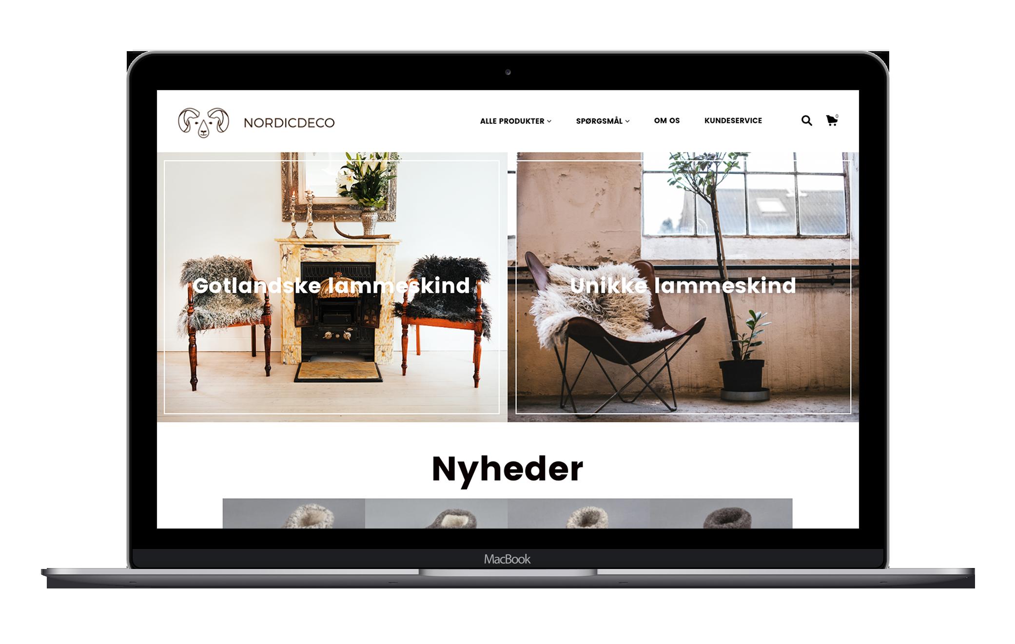 Professionel webshop med simpel, overskuelig og brugervenligt design