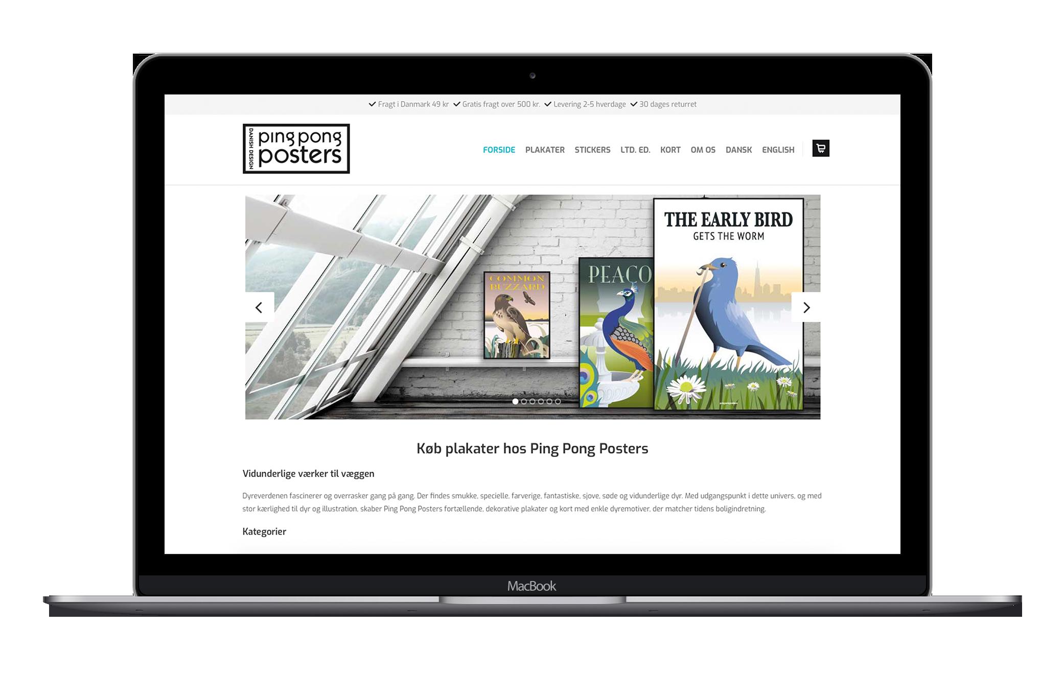Simpel webshop med mulighed for selvstændig drift og vedligeholdelse