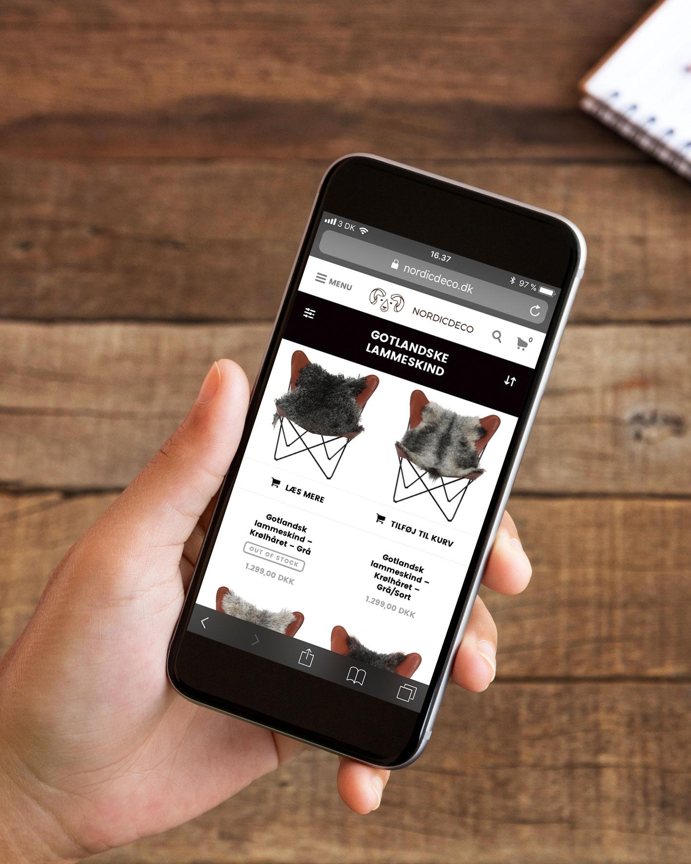 webshop udviklet i WordPress med Woocommerce som shop modul